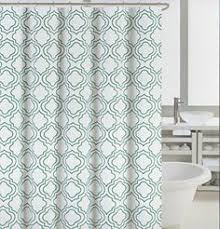 Amazon Com Shower Curtains - cynthia rowley fabric shower curtain stamped ombre teal and white