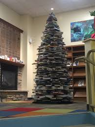 Christmas Tree Books by My Local Library Made A Christmas Tree Out Of Books Imgur