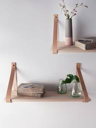Wooden Shelf Brackets Diy by Best 25 Leather Strap Shelves Ideas On Pinterest Easy Shelves