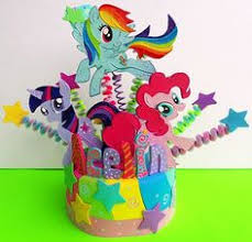 My Little Pony Party Centerpieces by Centerpieces My Little Pony Bianca S Birthday Pinterest