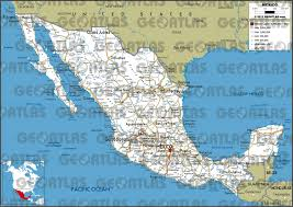 Map Mexico Geoatlas Countries Mexico Map City Illustrator Fully With Road Of