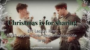efl lesson plan christmas is for sharing english lesson plan