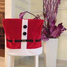 Christmas Chair Back Covers Christmas Santa With Belt Buckle Red Chair Cover Seat Back Cover