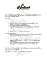 inside sales resume sle 28 images inside sales representative