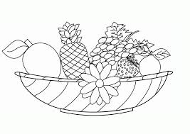 free printable fruit coloring pages for kids ภาพระบายส