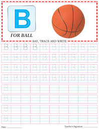 capital letter writing practice worksheet alphabet b download