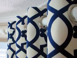 White And Blue Curtains Decorating Royal Blue And White Curtains Charming Sheer