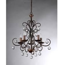 Home Depot Bronze Chandelier Warehouse Of Tiffany Grace Crystal Drop Curved 5 Light Antique