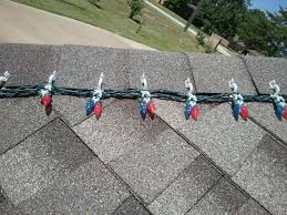 hanging lights on your roof or roof line
