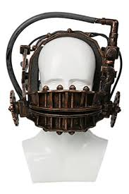 Saw Mask Saw Mask Reverse Bear Trap Bronze Resin Horror Masque Cosplay