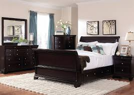 Platform Sleigh Bed Sleigh Platform Storage Bed 6 Bedroom Set In Cherry
