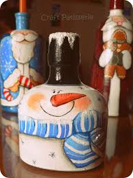 country painting christmas bottles craft show ideas