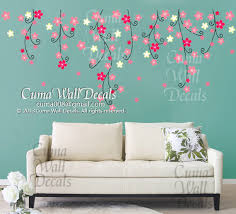 Vinyl Wall Decals For Nursery Flower Wall Decal Nursery Pink Flower Cuma Wall Decals