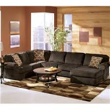 Ashley Furniture Living Room Set Sale by Ashley Furniture Vista Chocolate Casual 3 Piece Sectional With
