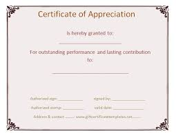 37 best certificate of appreciation templates images on pinterest