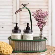 Hydrangea Bathroom Accessories by Corrugated Metal Garden Hose Oval Bin Or Planter Bathroom