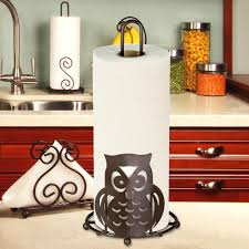 home basics bronze paper towel holder owl ph01781 the home depot