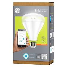 ge link 65 watt br30 smart led light bulb target