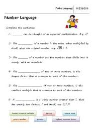 math language natural numbers worksheet for 9 16 year olds tpt