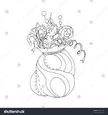 black vector mono color illustration santas stock vector 338719136