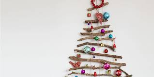 twig christmas tree create a festive feature wall with a twig christmas tree