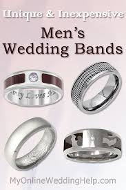 inexpensive wedding bands unique inexpensive men s wedding bands my online wedding help