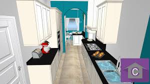 cuisine en couloir cuisine en parallle cool amnagement duune cuisine with