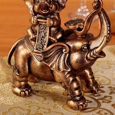 lucky elephant ornaments a like the living room tv cabinet