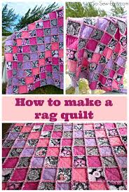 How To Rag Rug How To Make A Rag Quilt So Sew Easy