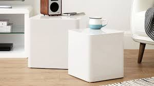 High Gloss Side Table Contemporary Dice Side Tables White High Gloss Nesting