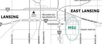 printable driving directions msu cus maps michigan state university