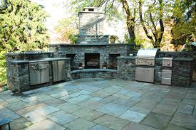 Outdoor Grill And Fireplace Designs - decoration fireplace designs with brick stone accent wall design