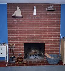 painting an old brick fireplace simplified bee