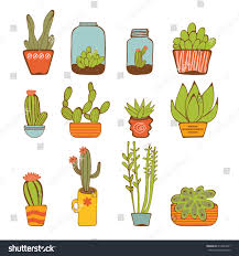 Beautiful House Plants by Beautiful Set Hand Drawn Houseplants Vector Stock Vector 314963021