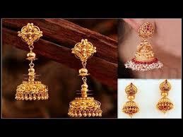 gold jhumka earrings design gold earrings designs gold jhumka designs