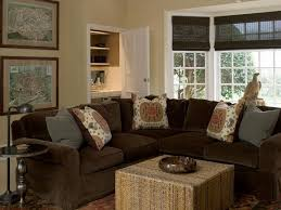 brown sectional sofa decorating ideas brown velvet sectional cottage living room phoebe howard