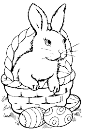 Easter Bunny Colouring Pages Coloring Pages For Kids Rabbit And Rabbit Colouring Page