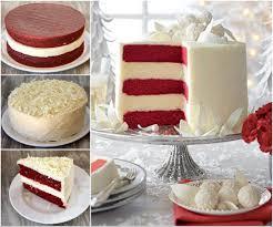 red velvet cheesecake cake is gorgeous white chocolate