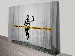 police line canvas wall art print banksy police line canvas wall art print