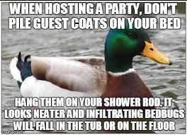 Shower Rod Meme - actual advice mallard meme imgflip