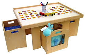 table with storage and chairs amazon com a childsupply play table with storage and 2