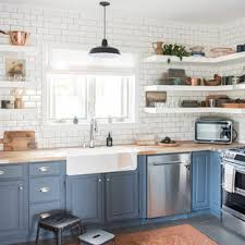 houzz blue kitchen cabinets 75 beautiful coastal kitchen with blue cabinets pictures