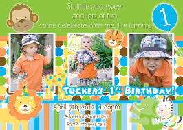 sweet safari invite boy invitation 1st birthday party