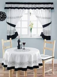 Whote Curtains Inspiration Inspirations Kitchen Black And White Curtains Koffiekitten