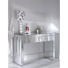 Mirrored Furniture Bedroom by Vanity Table With Mirror Smooth Base