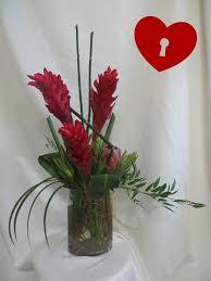 Red Ginger Flower - red ginger bouquet valentines day flower arrangements