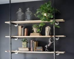 Black Pipe Bookshelf Black Pipe Shelf Etsy Studio
