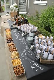 Birthday Decoration Ideas At Home For Husband Beer And Pretzels This Is A Great Idea For A Party Buffet