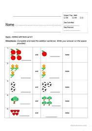 16 free esl addition worksheets