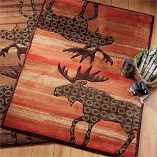 Moose Area Rugs Lodge Moose Terracotta Rug 2 X 3 Rustic Area Rugs